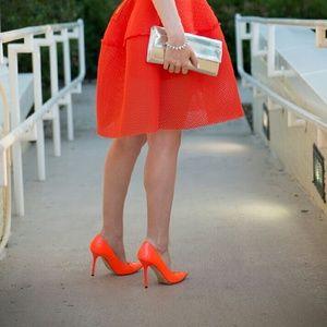 AUTH JIMMY CHOO Orange Heels